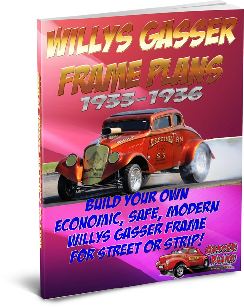 1933 to 1937 Willys Gasser Frame Plans