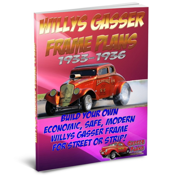 1933 to 1936 Willys Gasser Frame Plans