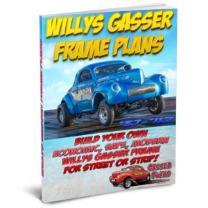 1937 to 1940 Willys Gasser Frame Plans